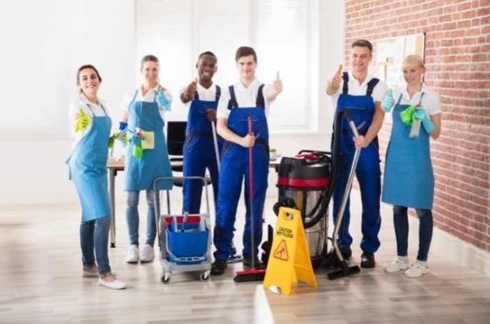 Cleaning staffs showing like