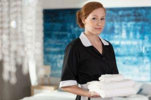 Maid Showing Iron cloth